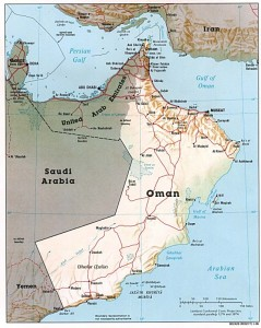Map of Oman