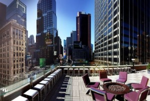 Novotel New York Times Square outdoor terrace