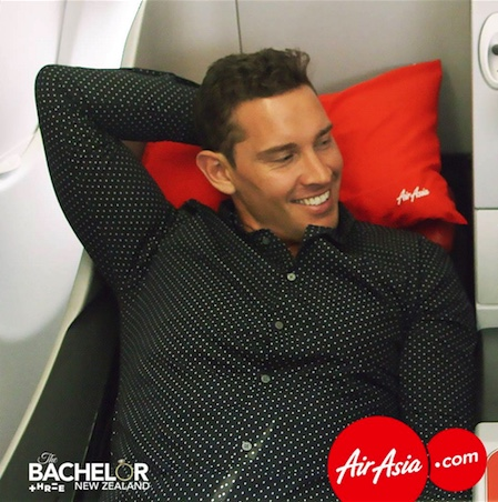 Bachelor NZ flies AirAsia